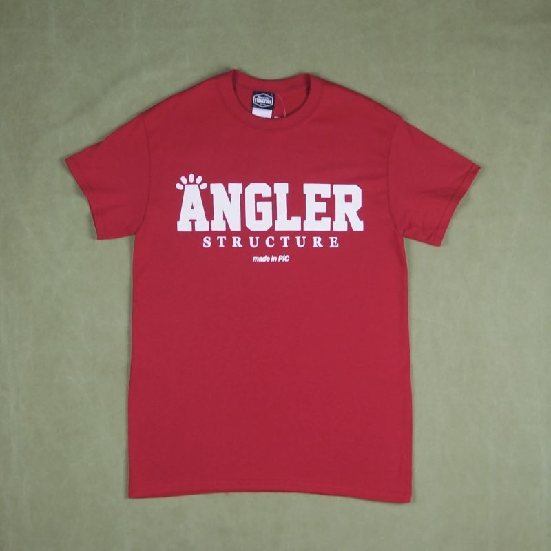 structure angler t shirt red garitto. Black Bedroom Furniture Sets. Home Design Ideas